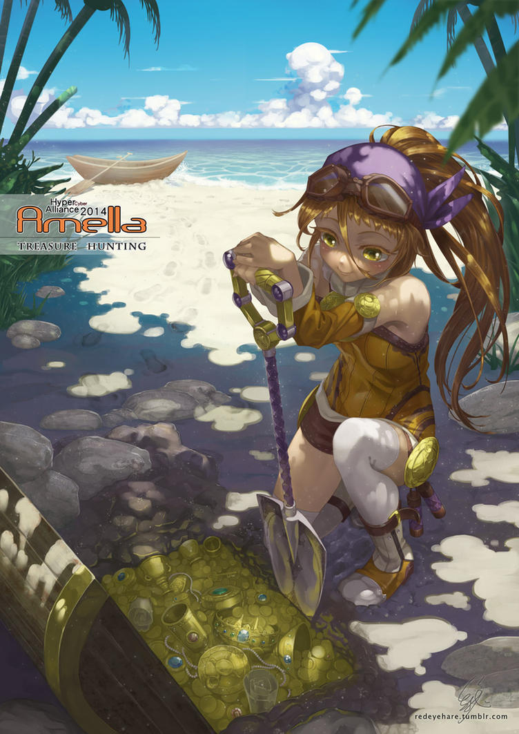 Treasure Hunting by redeyehare