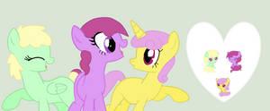 Lemon swirl, Skye breeze, and Grape punch by Kaitkat123