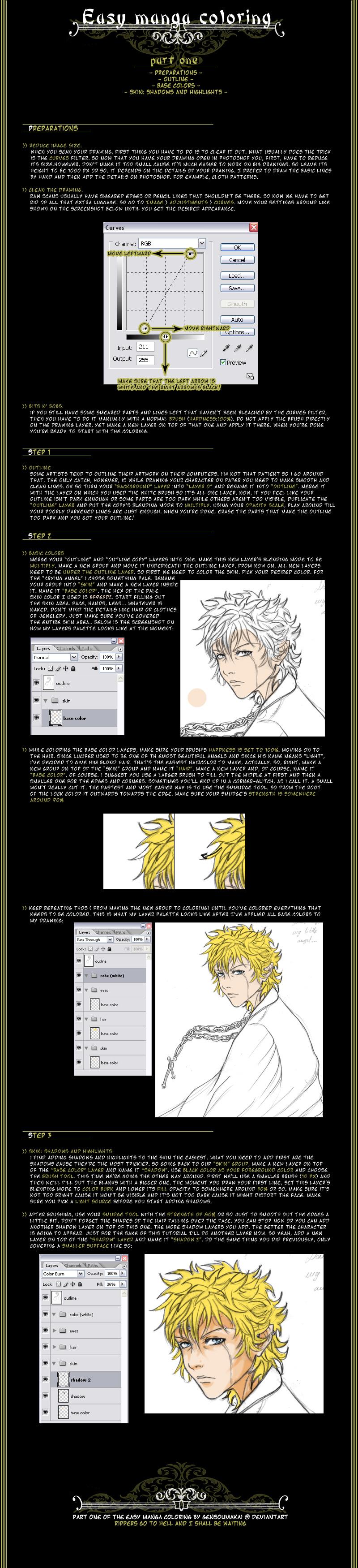 Easy manga coloring pt1 by GensouMakai