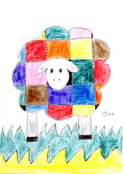 Patchwork Sheep by wilmel