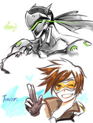 Doodle overwatch by MimuRa33