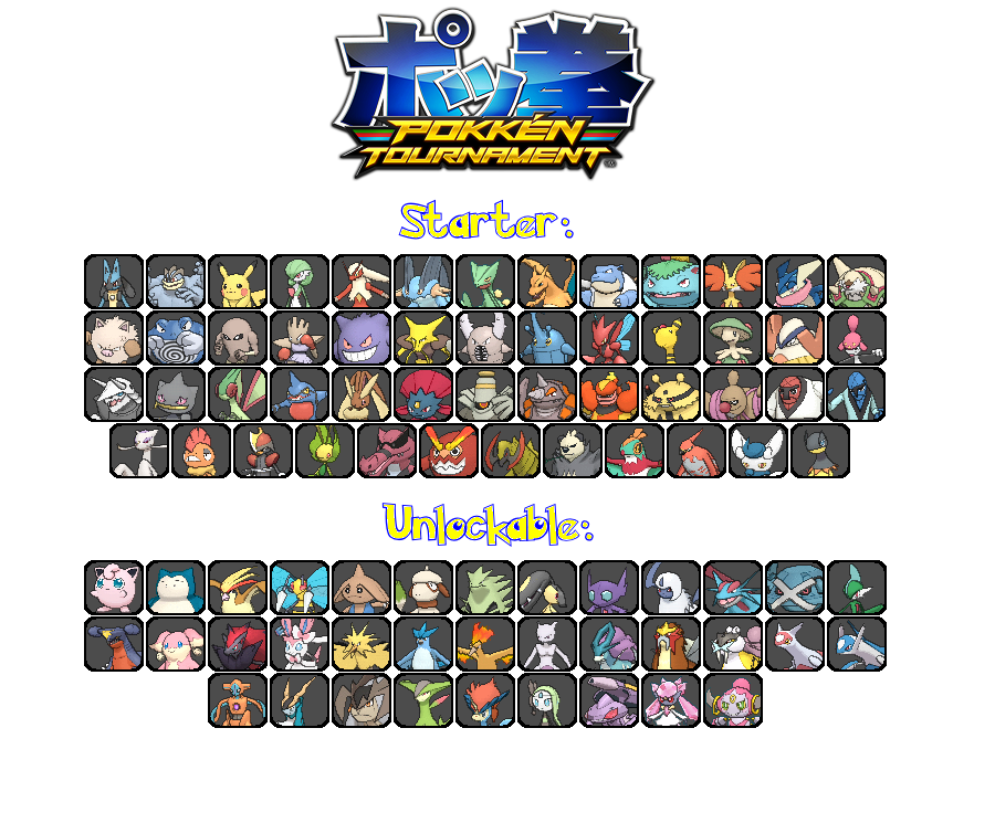 pokken tournament roster predictions by gregster101 on deviantart
