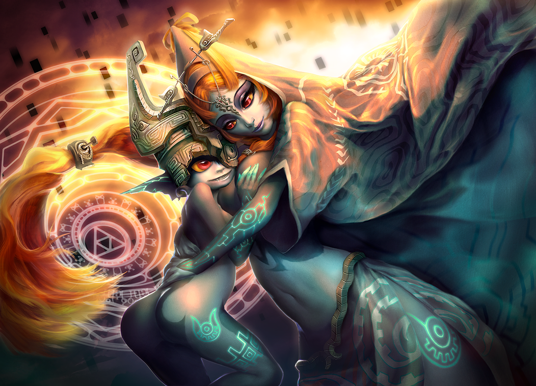 Midna's Hug by Yuqoi on DeviantArt