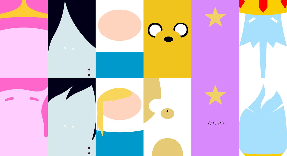 Main Characters - Adventure Time (Wallpaper) by Qhyperdunk24