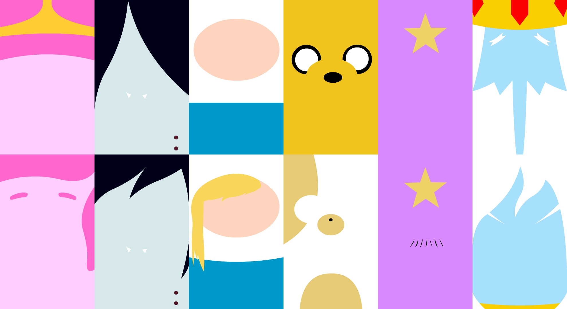 Main Characters - Adventure Time (Wallpaper)
