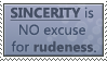 Stamp : Sincerity