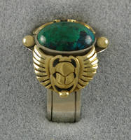 Egyptian Scarab Ring by KellyMorgenJewelry