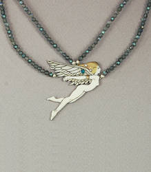 Angel Isis, Egyptian Goddess of Magic by KellyMorgenJewelry