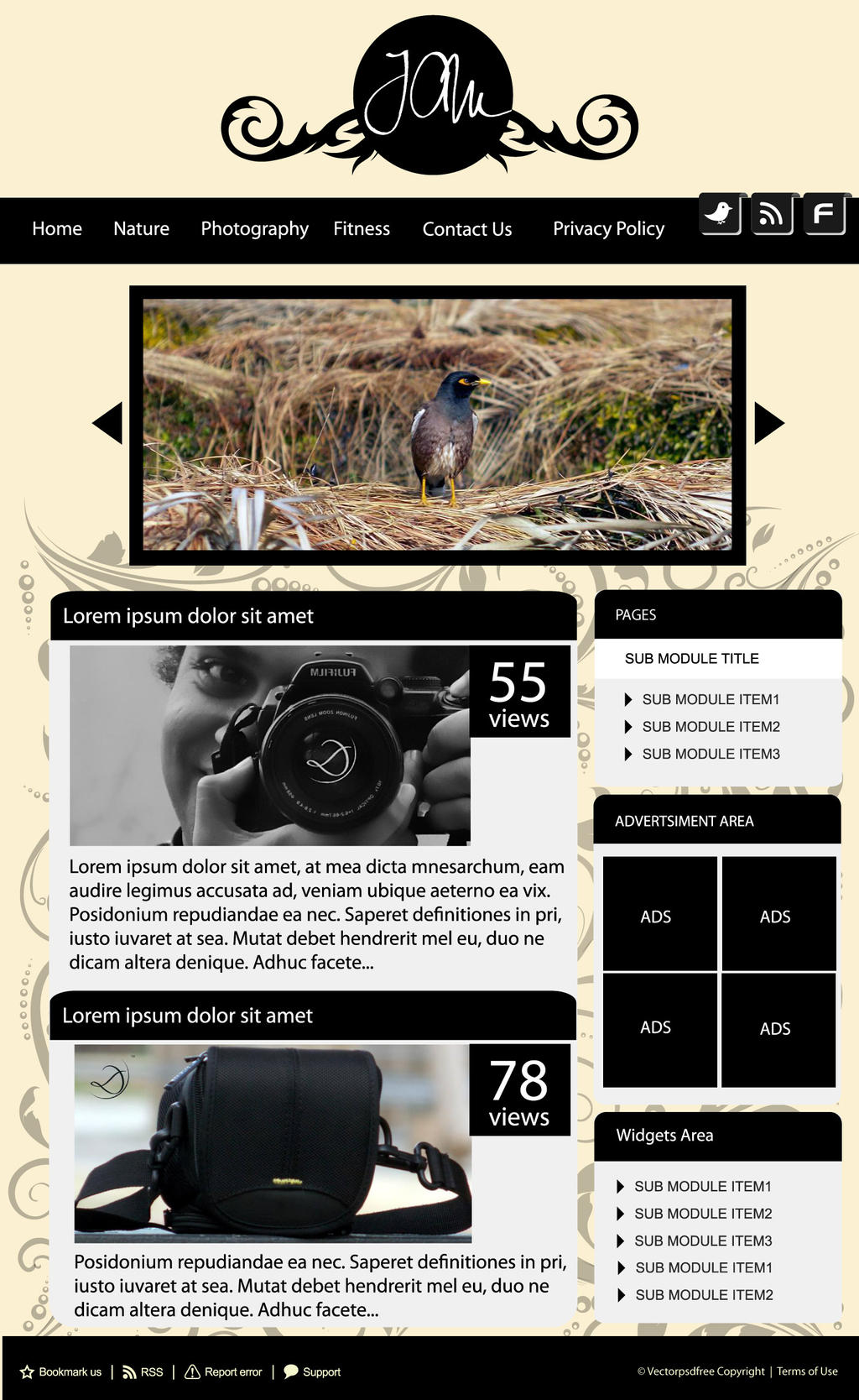 blogger vintage template style
