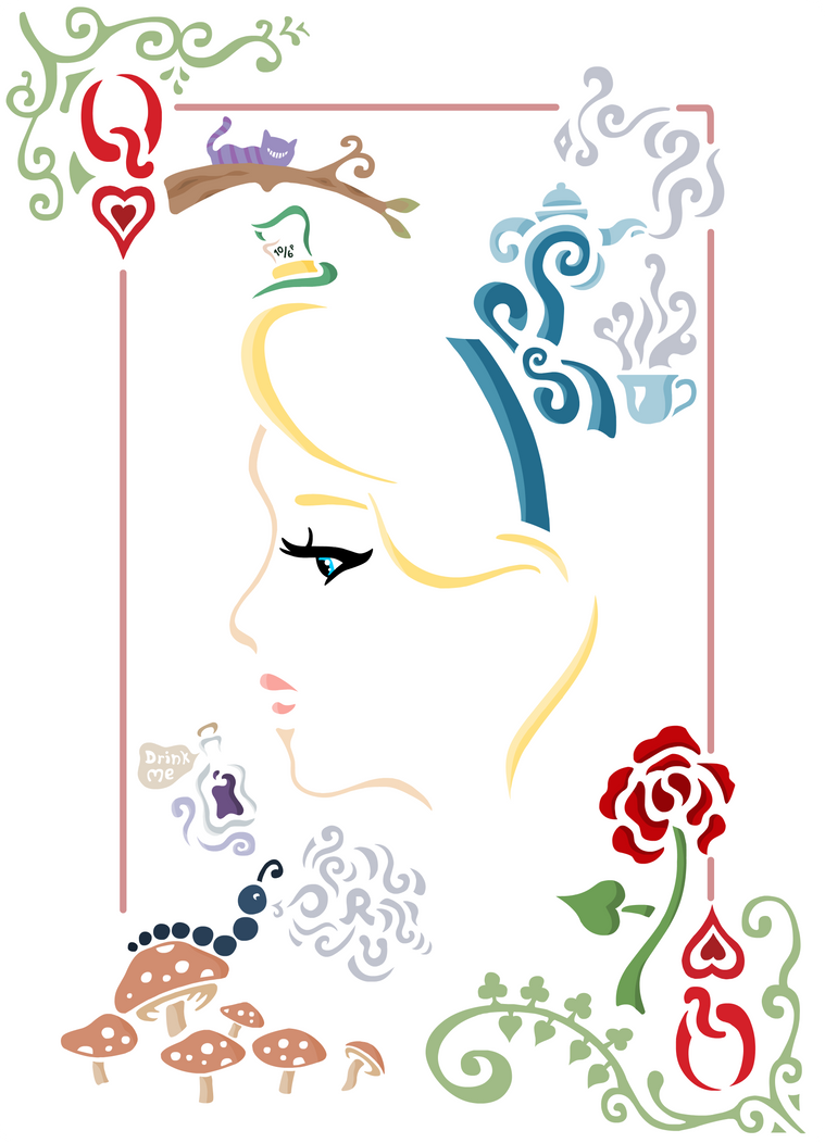 Alice in Wonderland Playing Card by c00lfr0g on DeviantArt