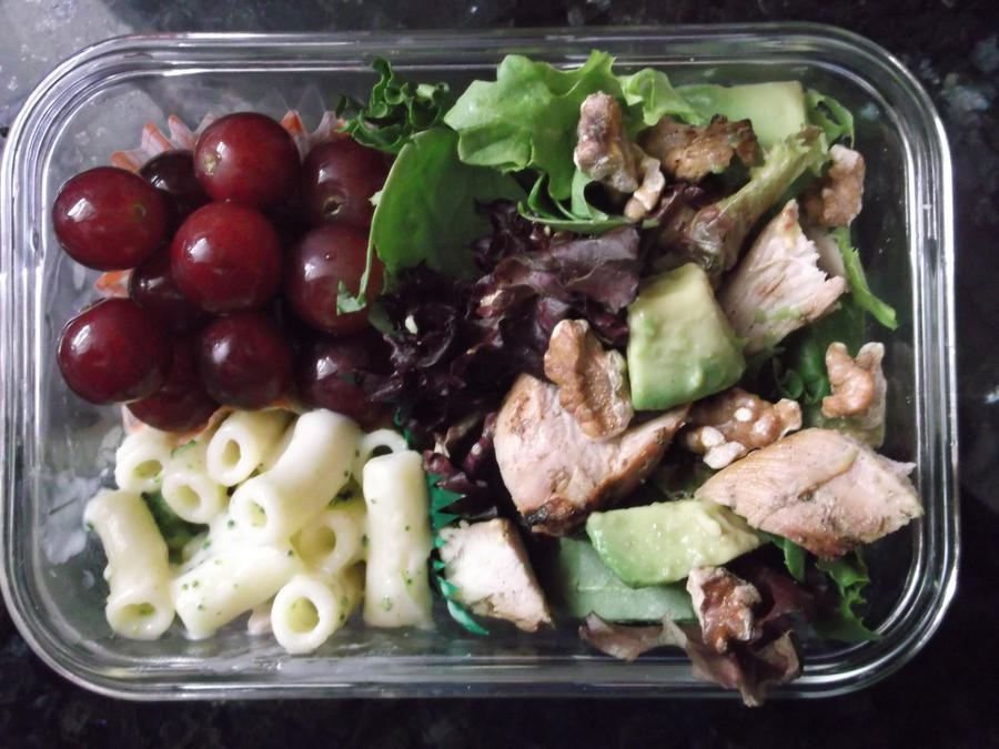chicken avocado salad bento by blackfacet