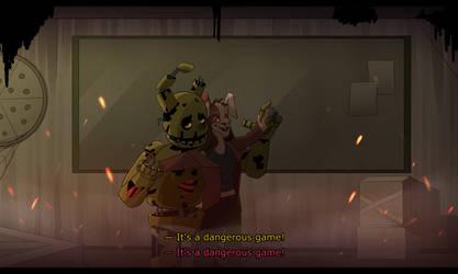 Springtrap, Vanny - Dangerous Game (AU)
