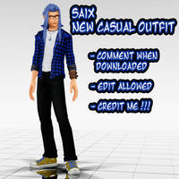 [KH MMD] Saix Casual Model DL by Lexalice