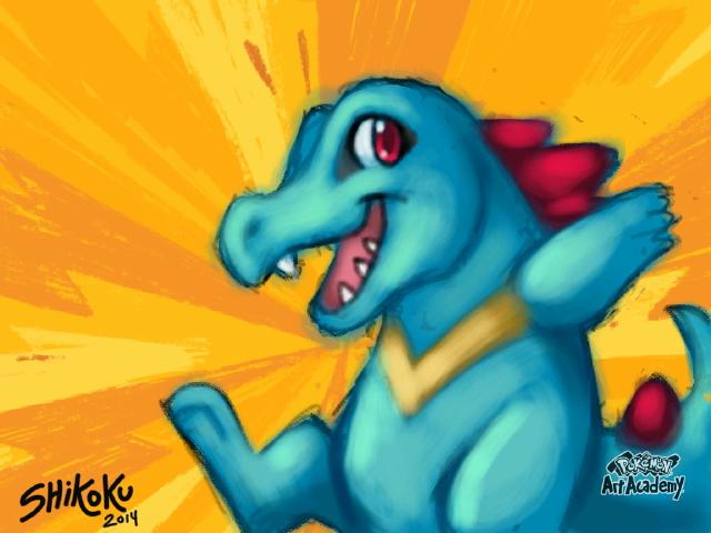 Totodile - Pokemon Art Academy by shikokumaji