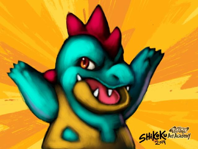Croconaw - Pokemon Art Academy by shikokumaji