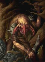 Goblin Warrior - Token Card by DaveAllsop
