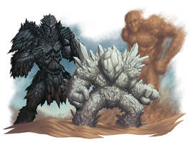 Golems of Athasian by DaveAllsop