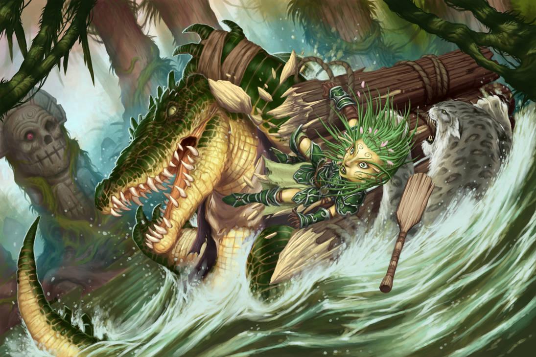 WereCroc Attack by DaveAllsop