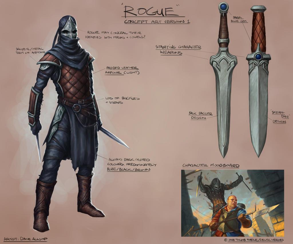 Rogue Concept Art - Celtic Heroes by DaveAllsop