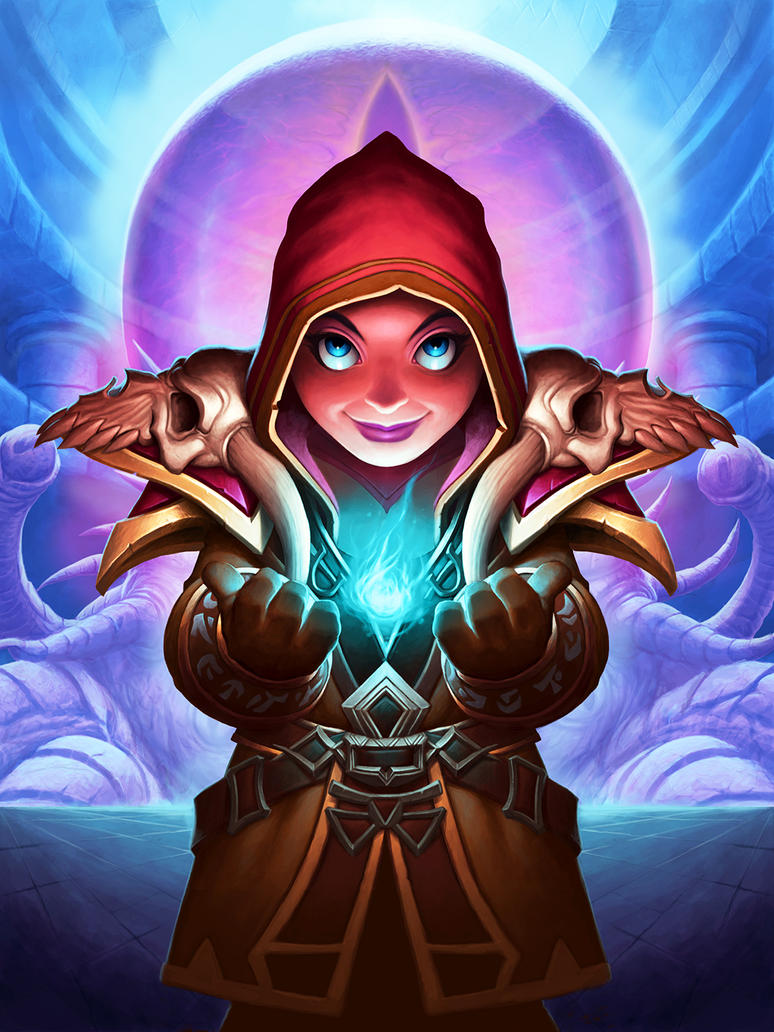Usher of Souls - Hearthstone by DaveAllsop