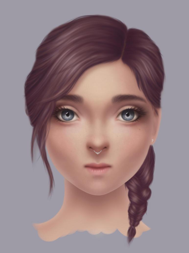 Pierced Girl (Portrait Study) by marviiee