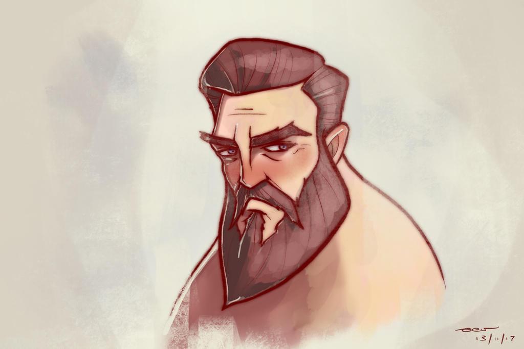 DEW Beard Man (Zatransis/Procreate study)