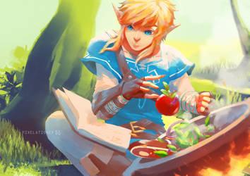 Legend of Zelda: Breath of the Wild by Pixelationer