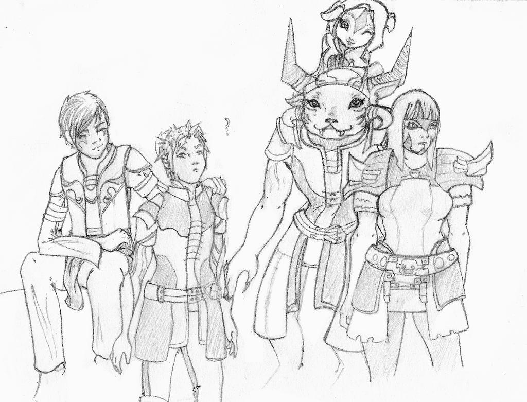 [Guild wars II ] five heroes by xAlalax