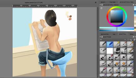 Topless Painter practice WIP