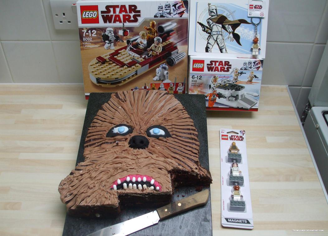 chewbacca birthday cake by franklando on deviantart