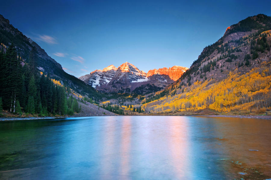 Maroon Lake Sunrise by porbital