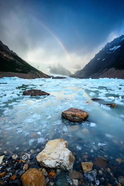 Rainbow on Ice by porbital