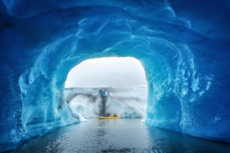 Inside a floating glacier by porbital