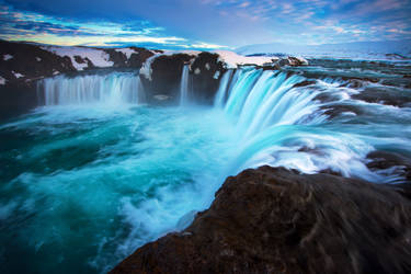 Godafoss Drop by porbital