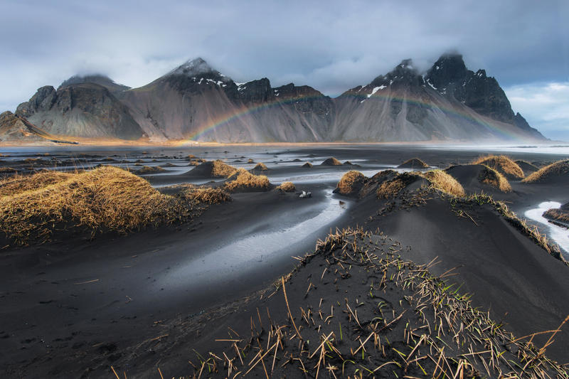 Rainbow at Vestrahorn by porbital