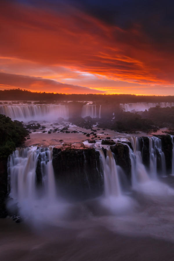 iguazu falls sunset - photo #1