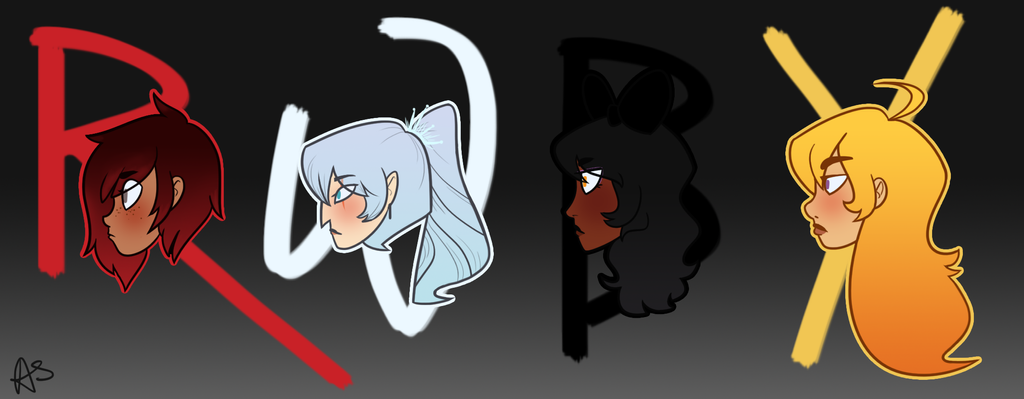 RWBY Lineup by AnneHairball