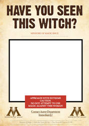 M.O.M Wanted Poster - Witch