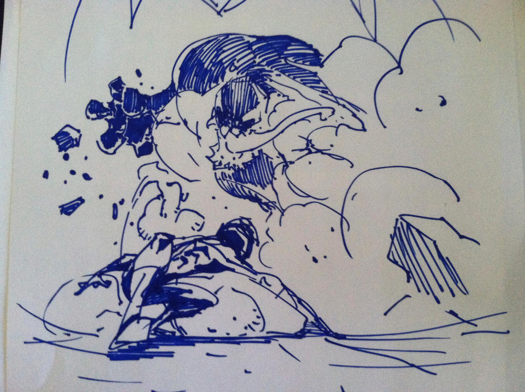 fight!spidey!! by tincan21