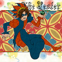 The Jester: Blue and Orange by CookieBaker