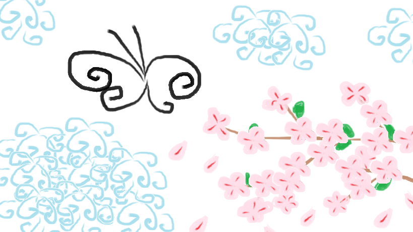Butterfly Cherry Blossom Tattoo Designs