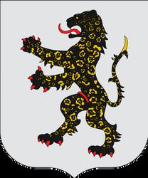 Heraldic jaguar by Alb-Burguete