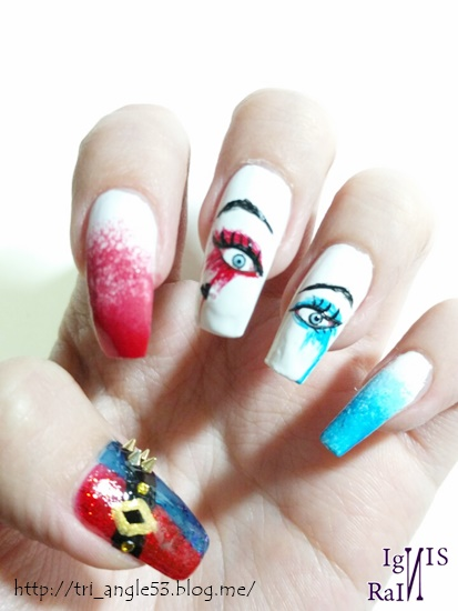 Harley Quinn Suicide Squad Ver Self Nailart By Ignis Rain On