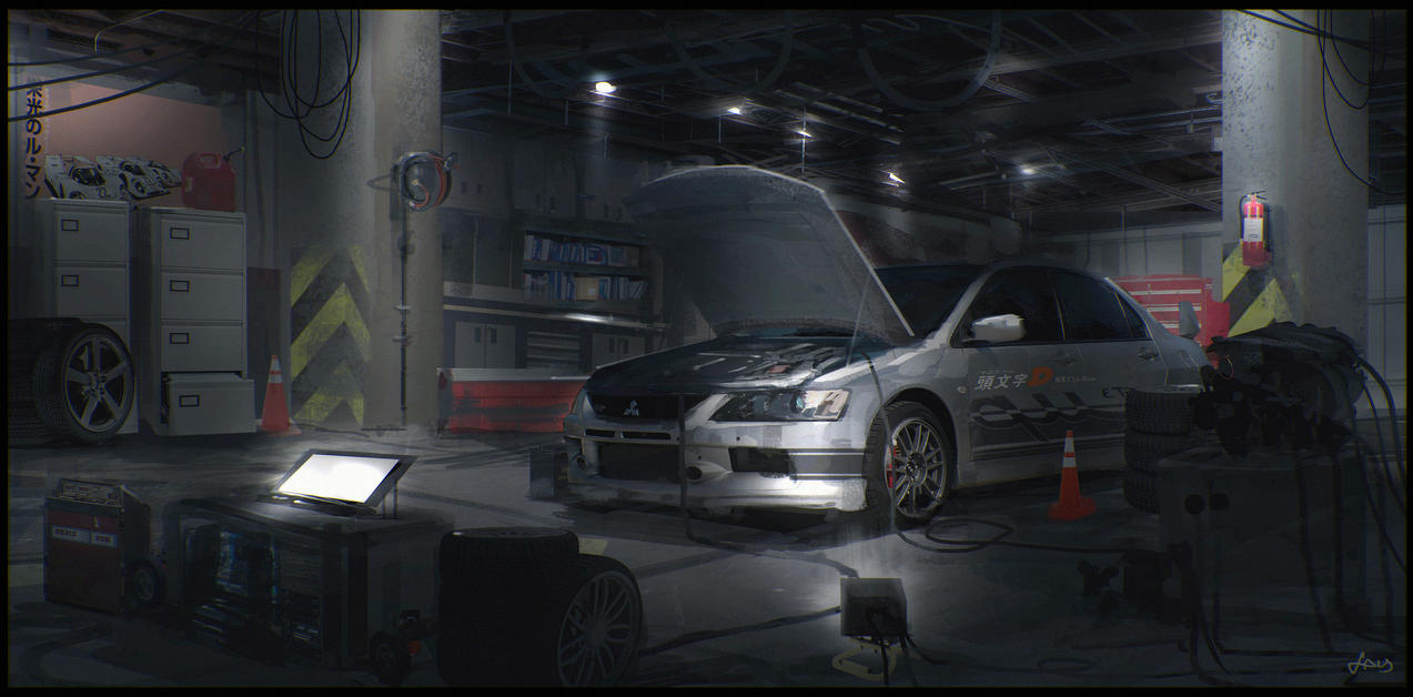 Welcome to the garage by pencilandstylus on deviantart for Garage concept auto