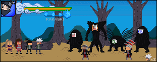 Kakashi vs Hidan and Kakuzu Boss battle! by Papertobi