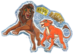 Kovu and Kiara badge by avafury