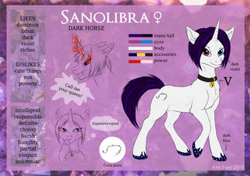 Sanolibra reference sheet by avafury