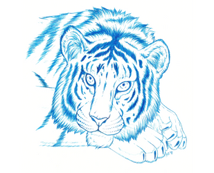 Blue Tiger by avafury