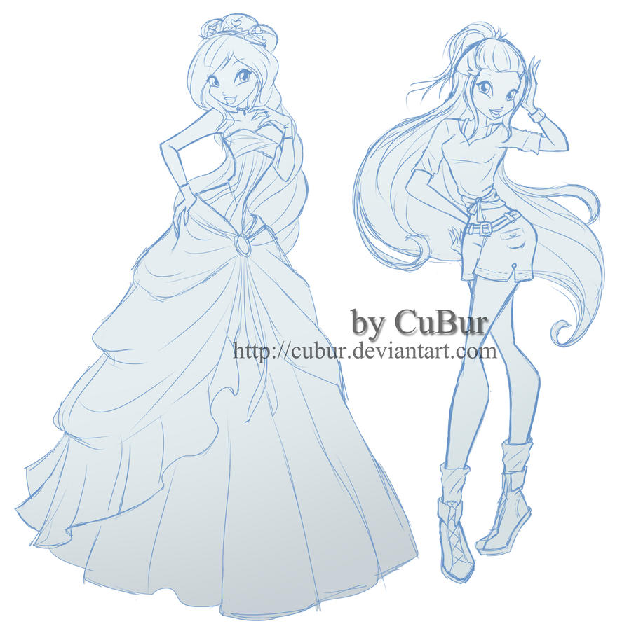 RQ Lorein In Ball Dress And Safari (sketch) By CuBur On DeviantArt