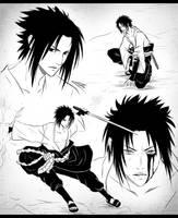 Naruto - Sasuke Uchiha by CuBur